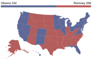 2012 Electoral Map Obama Victory