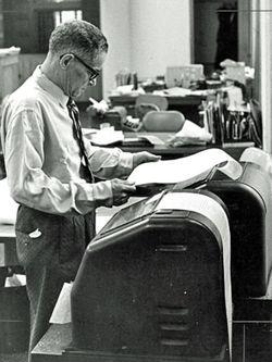 Teletype-machine