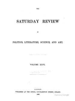 Sat review 1868