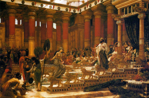 'The_Visit_of_the_Queen_of_Sheba_to_King_Solomon' _oil_on_canvas_painting_by_Edward_Poynter _1890 _Art_Gallery_of_New_South_Wales