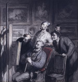 Honoré_Daumier_-_The_Amateurs_-_Walters_371228